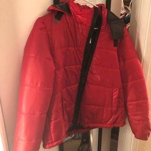 Rue21 red puff coat size large
